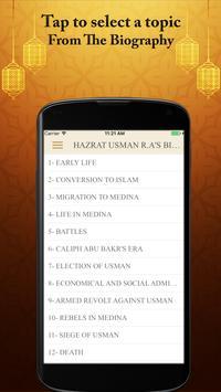 Hazrat Usman R.A Real Biography Life Quotes Quiz screenshot 1