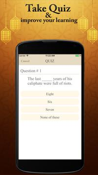 Hazrat Usman R.A Real Biography Life Quotes Quiz screenshot 3