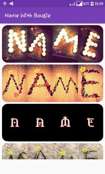 Write your name with wax poster