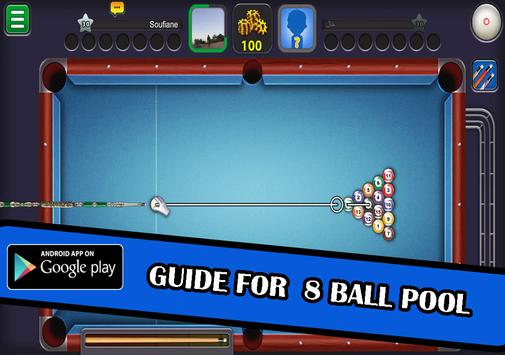 guide for 8 ball pool tips poster