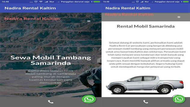 Nadira Rent A Car Kaltim screenshot 1
