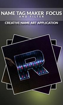 Name Tag Maker - Focus and Filter screenshot 5