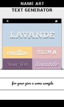 Name Art - Text Generator poster