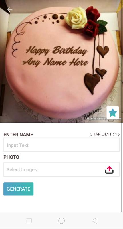 Birthday Cake With Name And Photo For Android Apk Download