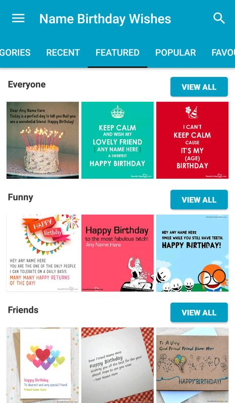 Name Birthday Wishes Poster