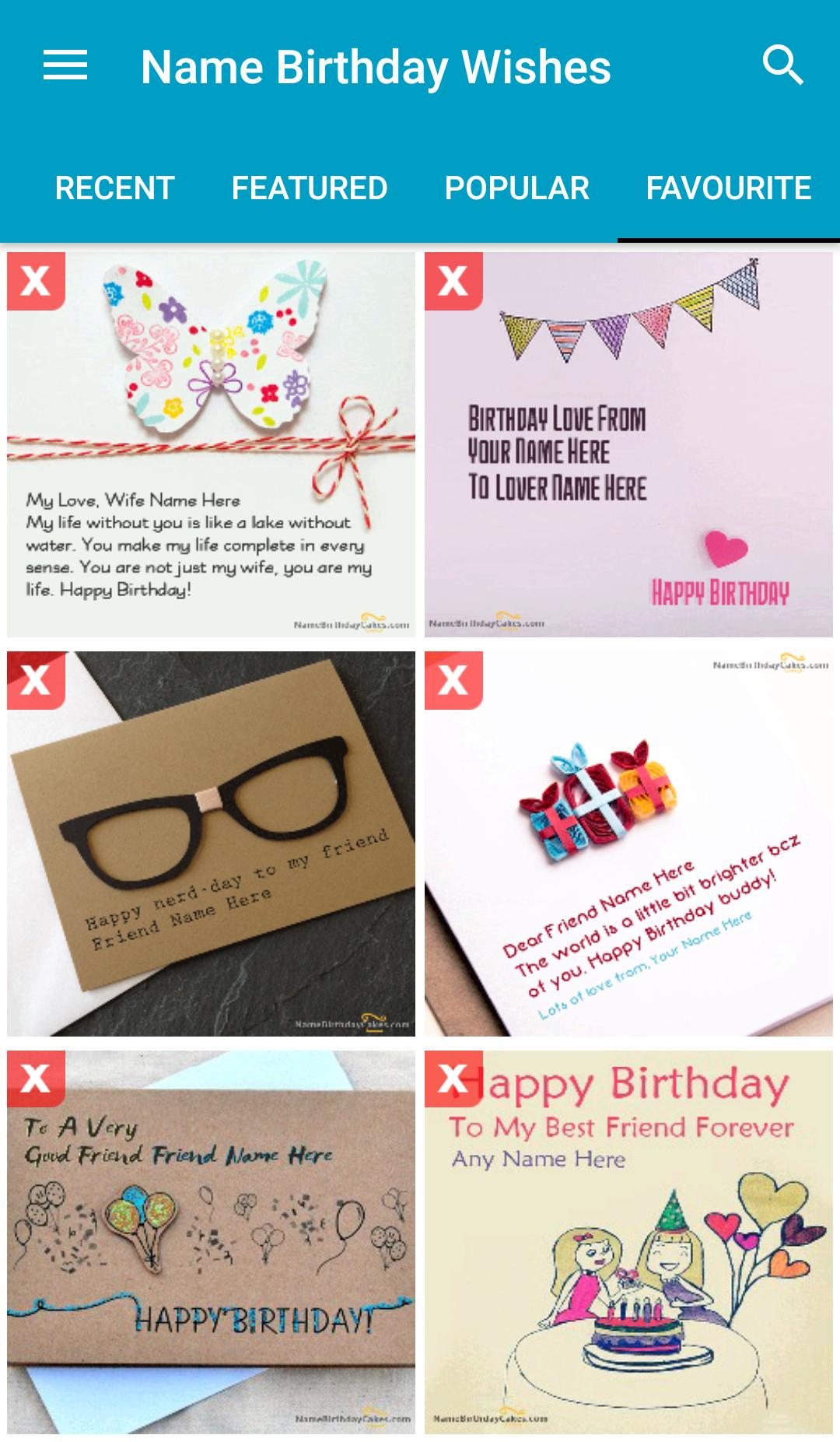 Name Birthday Wishes For Android Apk Download