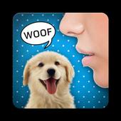 Human to dog translator joke icon