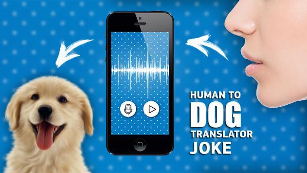 Human to dog translator joke poster