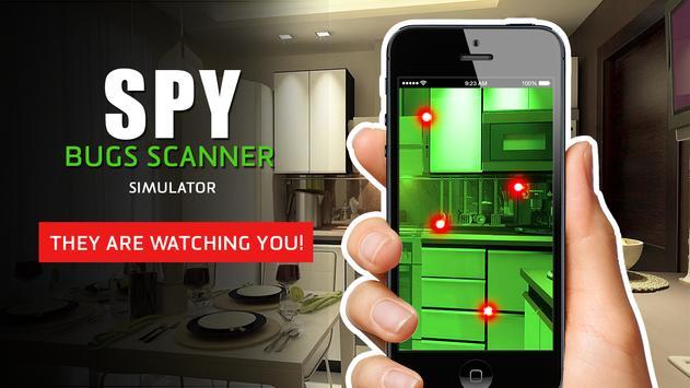 Spy: bugs scanner simulator apk screenshot