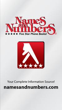 Names and Numbers Yellow Pages poster