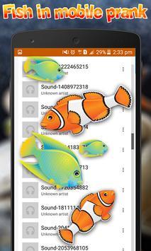 Fish in mobile touch Prank apk screenshot