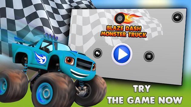 Blaze Dash Monster Truck poster