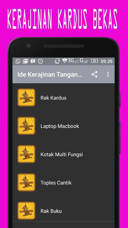 Kreasi Kerajinan Tangan dari Kardus Bekas for Android - APK Download 25f953ff28