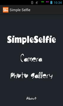 Simple Selfie Photo Editor poster