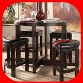DIY wooden table icon