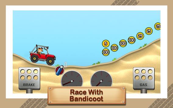 Hill Racing Bandicoot Crash poster