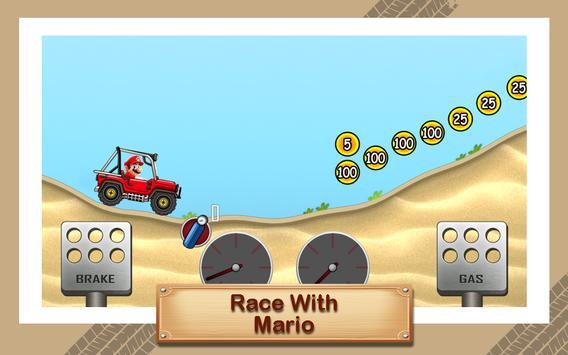 Hill Racing Super Hero Mario poster