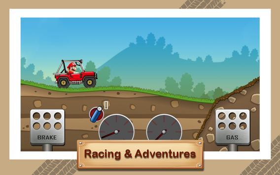 Hill Racing Super Hero Mario screenshot 5