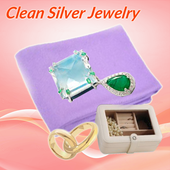How to clean silver jewelry icon