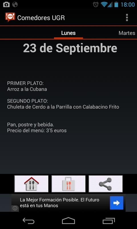 Comedores UGR for Android - APK Download