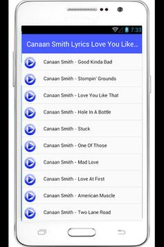 Canaan Smith Lyrics We Got Us apk screenshot