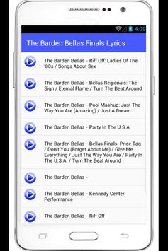 The Barden Bellas Finals Lyric apk screenshot