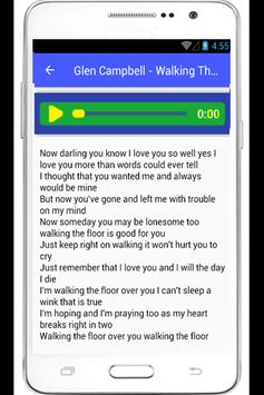 Glen Campbell Ann Lyrics poster