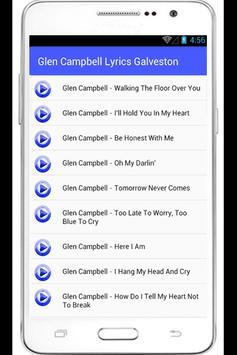 Glen Campbell Ann Lyrics apk screenshot