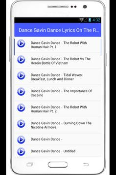 Dance Gavin Dance Lyrics apk screenshot