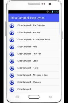 Erica Campbell Help Lyrics poster
