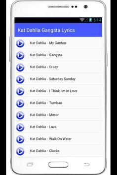 Kat Dahlia Gangsta Lyrics apk screenshot