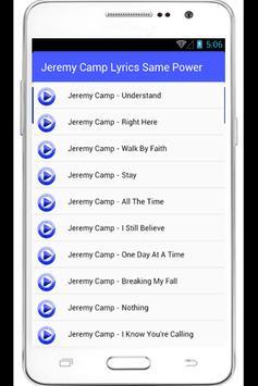 Jeremy Camp Lyrics Same Power apk screenshot