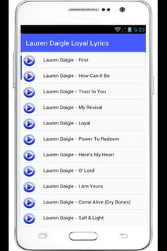 Lauren Daigle Loyal Lyrics apk screenshot