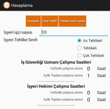 is güvenligi teklif hesaplama apk screenshot