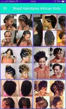Braid Hairstyle African Girls screenshot 5
