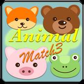 animal face match match 3 icon