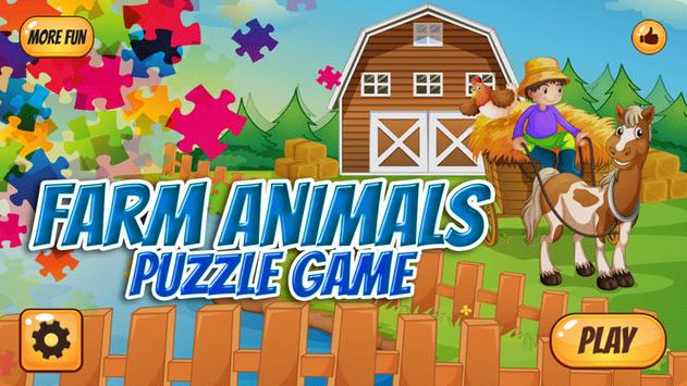 Farm Animals Puzzle For Kids poster