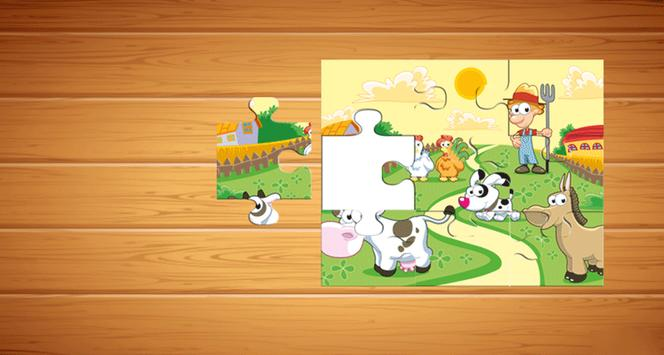 Farm Animals Puzzle For Kids screenshot 17