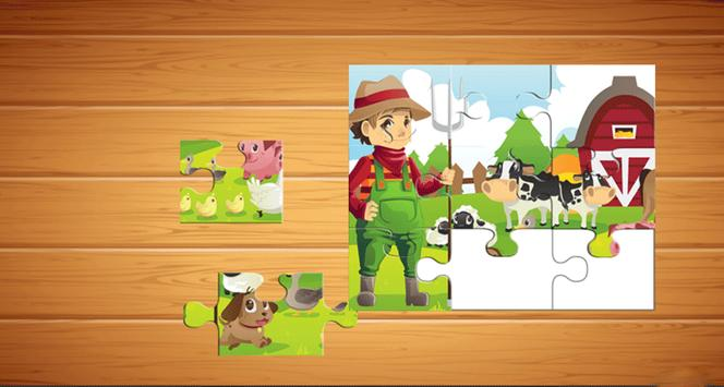 Farm Animals Puzzle For Kids screenshot 1