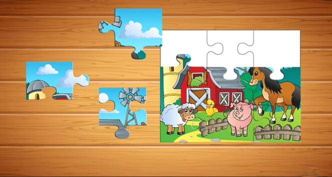 Farm Animals Puzzle For Kids screenshot 2