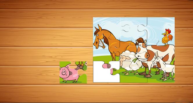 Farm Animals Puzzle For Kids screenshot 3