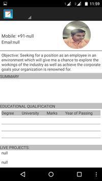 Resume Pocket apk screenshot