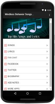 Mindless Behavior Songs Lyrics apk screenshot