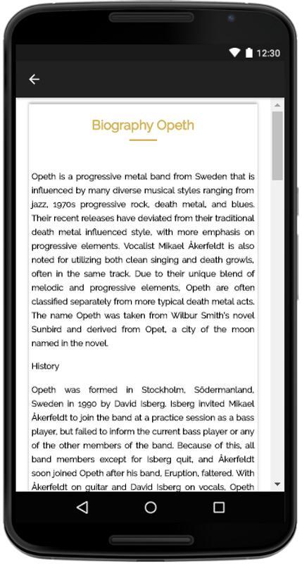 Opeth songs lyrics apk download free entertainment app for.