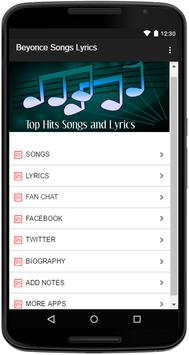Beyonce Songs Lyrics screenshot 1