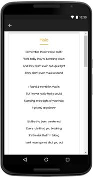 Beyonce Songs Lyrics screenshot 3