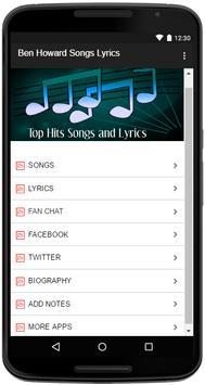 Ben Howard Songs Lyrics screenshot 1