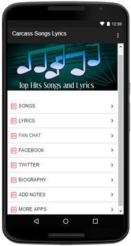 Carcass Songs Lyrics screenshot 1
