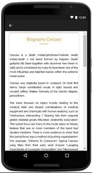 Carcass Songs Lyrics screenshot 4