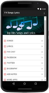 F4 Songs Lyrics screenshot 1